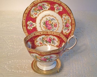 Vintage cup and saucer 'Lady Hamiliton' by Royal Albert