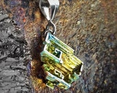 """ON SALE Bismuth Necklace - """"Whirlwinds on a Sunny Day"""" Bismuth Geode Bismuth Jewelry by Element83 - Element 83 - Iridescent Crystal Necklace"""