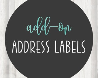 Add-On:  Matching Address Labels with Gloss Coating