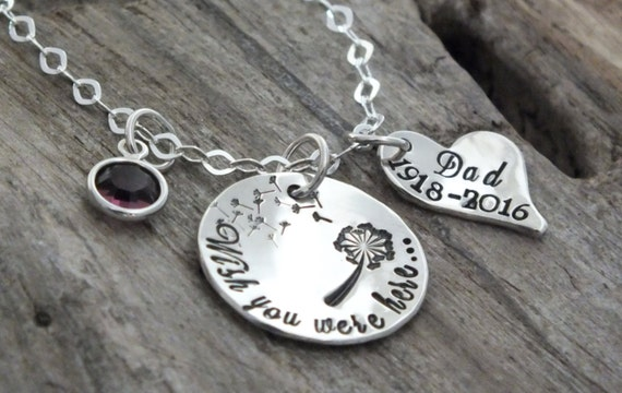 Remembering a Loved One /Remembrance Gifts /Remembrance Jewelry /Loss of a Friend /Wish you were here/Memorial Jewelry /Dandelion Necklace
