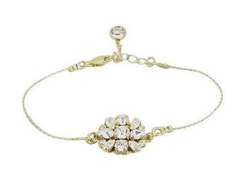 Bridal Bracelet Wedding Jewelry, Gold Snake Chain Art Deco Crystal Pendant Dainty Delicate Rhinestone Bangle Cuff,  Camilla Christine RUMOR