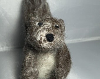 Needle felted squirrel Art Doll Ornament