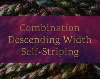 Combination Descending Width Self-Striping - Spinning Batt Tutorial - Handspun Yarn Tutorial