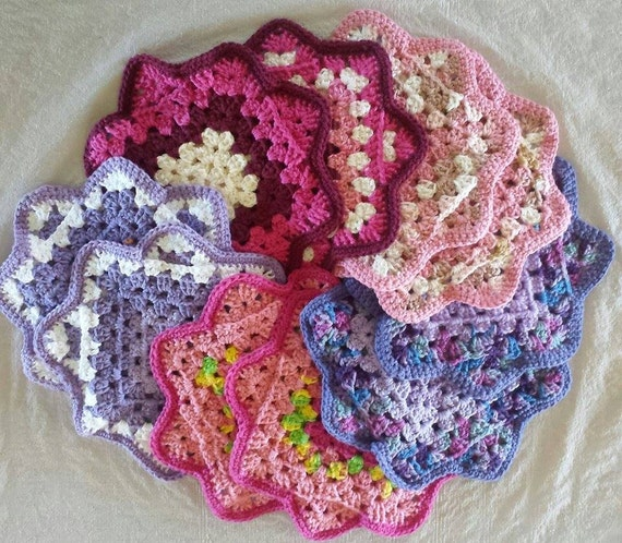 Crochet Patterns Hot Pads : Vintage Hot Pad Crochet Pattern by angelamosley on Etsy