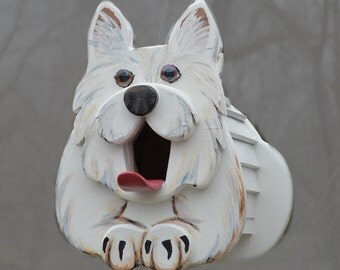 Westie the Dog Birdhouse or Feeder, dog lover gift, West Highland Terrier