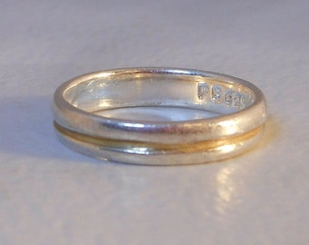 sterling silver double band size 4 34 stack ring - Size 4 Wedding Rings