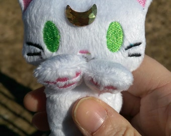 Cutie plush Sailor Moon (manga / Crystal) kitty - Artemis (green eyes)