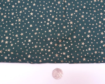 bottle green stars, gold star fabric, quilting cotton, fat quarters,