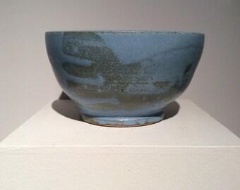 Blue Studio Pottery Bowl, found in North Carolina Mountains.