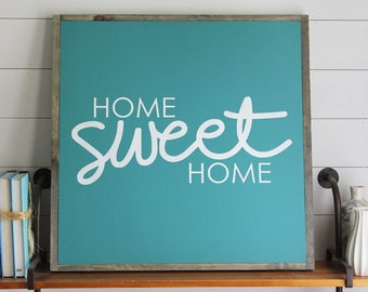 Home Sweet Home Wood Sign, Housewarming Gift, Country Decor, Farmhouse Decor
