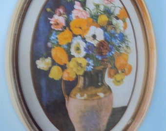Floral painting in Oval Frame
