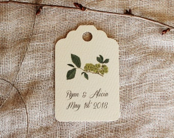 Favor Tags Botanical Greenery Wedding Shower Party Tags