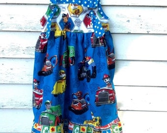 Made to Order!! Paw Patrol Dress, Knot Dress, Birthday Outfit, Paw Patrol, Girls Dress