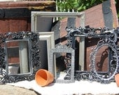 Vintage Style Picture Frames - Picture Frame Collection - Shabby Chic Frames - Set Of  Ornate Frames