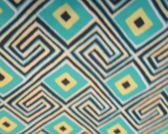 Quilting Weight Cotton Fabric Glow Maze in Grass designed by Amy Butler for Free Spirit 1 yard