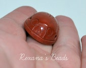 Red Jasper Scarab Bead
