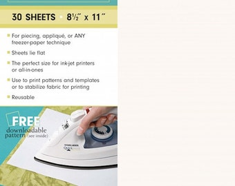 Quilter's Freezer Paper Sheets, 30 (8.5x11) Sheets, Sewing, Crafting, DIY