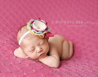 Headband of the Day -- Carousel of Colors Headband - M2M SweetHoney Giraffe Dress