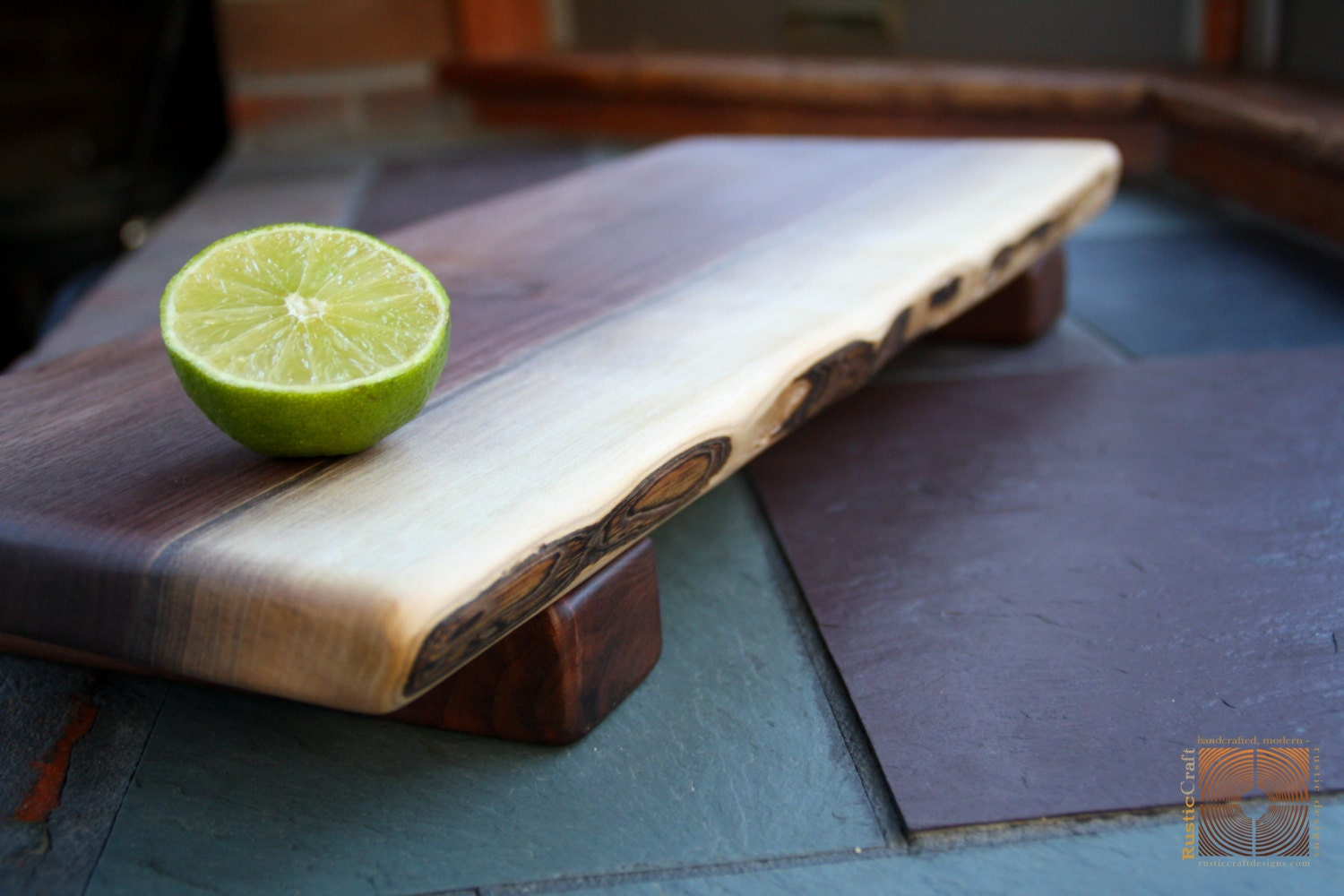 Personalized Kitchen Gift Black Walnut Cutting Board With