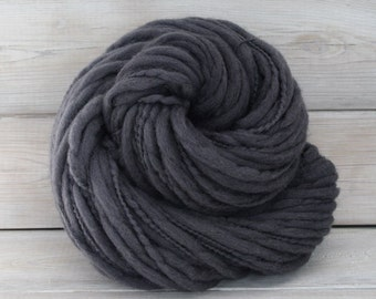 Titan - Hand Dyed Thick & Thin Merino Wool Bulky Chunky Yarn - Colorway: Charcoal