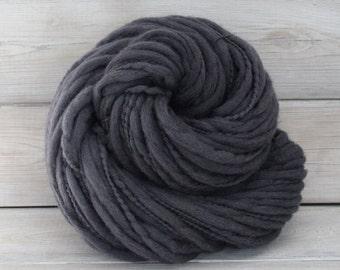 Titan - Hand Dyed Thick & Thin Merino Wool Bulky Chunky Yarn - Colorway: Charcoal