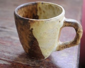 mug natural colors , 6 oz. ,handmade mug