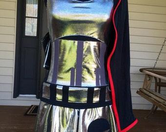 Plasma Captain running costume