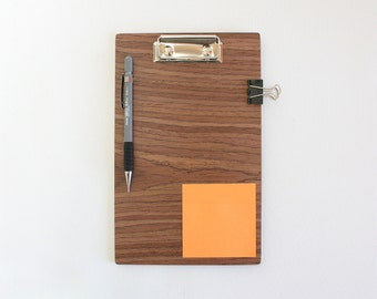 Walnut Clipboard / Wooden Clipboard / Business Gift / Office Gift / 8.5 x 11 inch Clipboard / A5 Clipboard / A4 Clipboard / Courier Gift