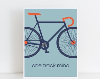 print for biker, gift for road biker, graphic print, gift for cyclist, gift for Father's Day
