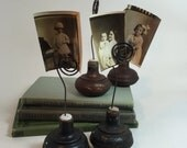 Door Knob Photo Holder / Vintage Wire & Metal Door Knob holder for Photos, Flyers, Business Card holder, etc.