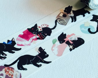 1 Roll of Limited Edition Washi Tape: Cat and Sweets