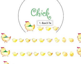 1 Roll of Limited Edition Washi Tape- Chicks