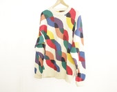 90s COLOR BLOCK fresh prince SWEATER
