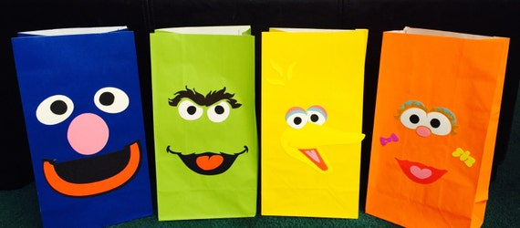 Sesame Street Treat Bags Favor Bags Goodie Bags Elmo
