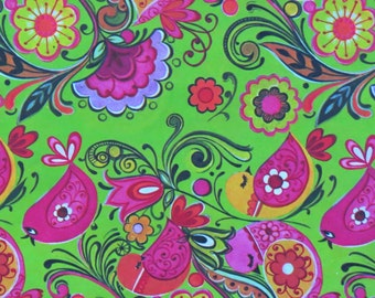 Vintage Crystal Greetings All-Occasion Gift Wrap - Wrapping Paper - Psychedelic BIRDS and Flowers - 1970s