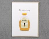 Custom listing for Alyson  Schramm-honey anniversary card