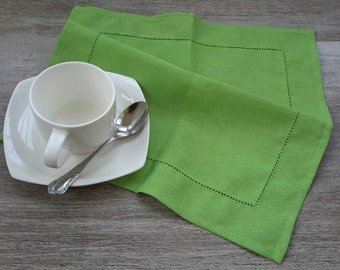LINEN Napkins - LIGHT GREEN napkins - linen Napkin Set of 6, Table napkin, table linen, wedding napkins, dinner napkins, cloth napkins