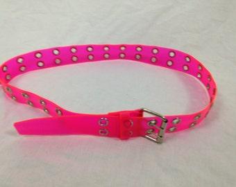 pink clear transparent belt