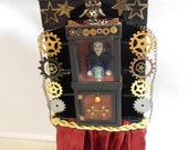 "Original art piece Steam-punk ""The Chronological Oracle"" ooak fortune teller"