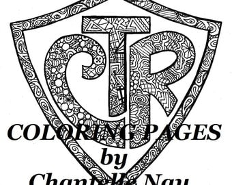 Coloring printable etsy for Ctr coloring page lds