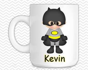 Batman Kids Mug - Personalized Batman Mug - Customized Mug - Melamine Cup - Personalized Kids cup