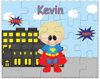 Superman Personalized Puzzle, Personalized Superman Puzzle, Personalized Kids Puzzle