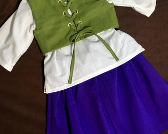 Girls costumes, renaissance dress, flower girl dress, girls halloween costume, theatre costumes, kids costumes, pirate costumes,