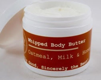 Oatmeal, Milk & Honey Whipped Body Butter (Shea  and Cocoa Butter)
