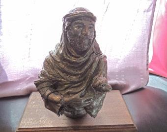Loving Shepherd Handmade Clay/Bronze Biblical Statue