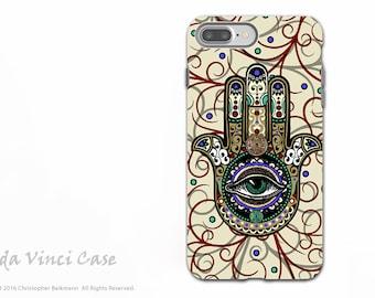 Hamsa Apple iPhone 7 PLUS Case - Dual Layer Tough Case - Evil Eye Protection Symbol - Sacred Defender Hamsa iPhone 7Plus Case