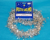 Mini Star Silver Festive Garland - Wire Garland - Total 13 Feet - Floral, Wreath Accent, Fabric, Costume Accent