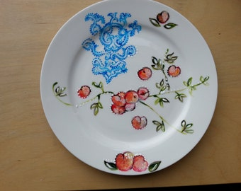 plate with peach