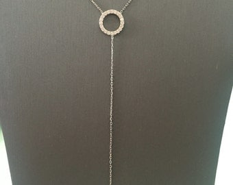 Eternity Lariat Necklace-Silver