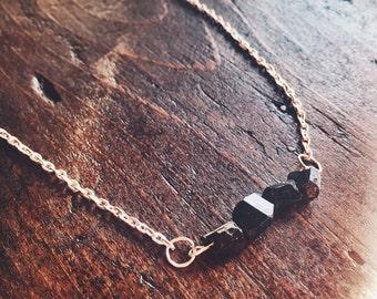 Black Tourmaline Toxic Energy Protection Necklace - Reiki Crystal Healing Jewelry
